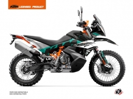 Kit Déco Moto Kontrol KTM 890 Adventure R Vert Blanc