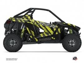 Polaris RZR PRO XP UTV Krack Graphic Kit Black Neon Green