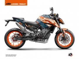KTM Duke 790 Street Bike Krav Graphic Kit Orange Blue