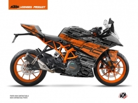 KTM 125 RC Street Bike Krav Graphic Kit Orange Black