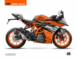 KTM 390 RC Street Bike Krav Graphic Kit Black Orange