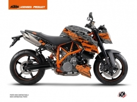 KTM Super Duke 990 Street Bike Krav Graphic Kit Orange Black