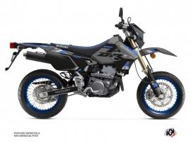 Suzuki DRZ 400 SM Dirt Bike Label Graphic Kit Grey Blue