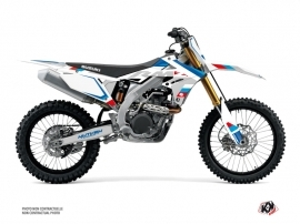 Suzuki 450 RMZ Dirt Bike Label Graphic Kit White