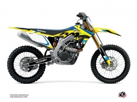Suzuki 450 RMZ Dirt Bike Label Graphic Kit Blue