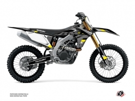 Suzuki 450 RMZ Dirt Bike Label Graphic Kit Grey