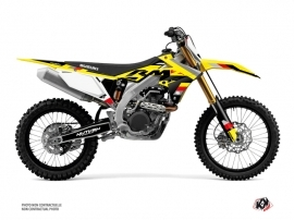 Suzuki 450 RMZ Dirt Bike Label Graphic Kit Black