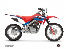 Honda 125F CRF Dirt Bike League Graphic Kit Red