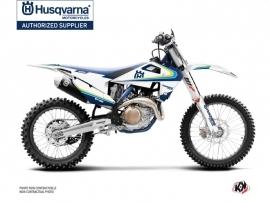 Kit Déco Moto Cross Legacy Husqvarna FC 450 Bleu Jaune