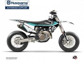 Husqvarna 450 FS Dirt Bike Legend Graphic Kit Turquoise