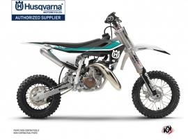 Kit Déco Moto Cross Legend Husqvarna TC 50 Turquoise