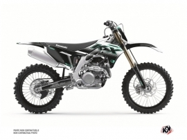 Kawasaki 450 KXF Dirt Bike Live Graphic Kit Turquoise