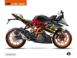 Kit Déco Moto Mass KTM 125 RC Noir Jaune