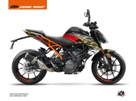 KTM Duke 390 Street Bike Mass Graphic Kit Black Yellow