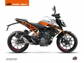 KTM Duke 390 Street Bike Mass Graphic Kit Orange