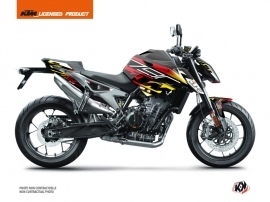 KTM Duke 790 Street Bike Mass Graphic Kit Black Yellow