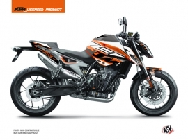 KTM Duke 790 Street Bike Mass Graphic Kit Orange