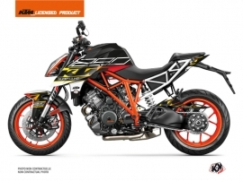 KTM Super Duke 1290 Street Bike Mass Graphic Kit Black Yellow