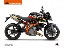 KTM Super Duke 990 Street Bike Mass Graphic Kit Black Yellow