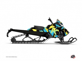 Kit Déco Motoneige Metrik Skidoo REV-XP Bleu Jaune