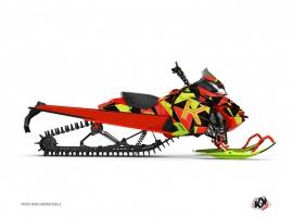 Kit Déco Motoneige Metrik Skidoo REV-XP Neon Rouge