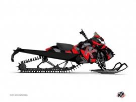 Kit Déco Motoneige Metrik Skidoo REV-XP Rouge Gris