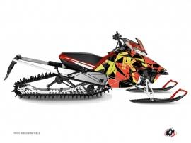 Kit Déco Motoneige Metrik Yamaha SR Viper Neon Rouge