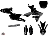 Yamaha 250 YZF Dirt Bike Black Matte Graphic Kit Black