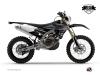 Kit Déco Moto Cross Black Matte Yamaha 450 WRF Noir LIGHT