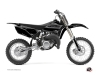 Yamaha 85 YZ Dirt Bike Black Matte Graphic Kit Black