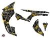 Can Am Renegade ATV Camo Graphic Kit Black Yellow