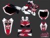 Yamaha 250 YZ Dirt Bike Demon Graphic Kit Red