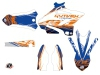 Kit Déco Moto Cross Eraser Yamaha 250 YZ Bleu Orange LIGHT