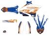 Kit Déco Moto Cross Eraser Yamaha 125 YZ Bleu Orange LIGHT