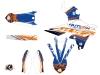 Kit Déco Moto Cross Eraser Yamaha 450 YZF Bleu Orange LIGHT