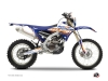 Kit Déco Moto Cross Eraser Yamaha 250 WRF Bleu Orange