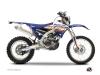 Yamaha 250 WRF Dirt Bike Eraser Graphic Kit Blue Orange
