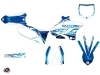 Yamaha 250 YZ Dirt Bike Eraser Graphic Kit Blue