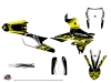 Yamaha 250 WRF Dirt Bike Eraser Fluo Graphic Kit Yellow
