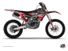 Kit Déco Moto Cross Eraser Yamaha 250 YZF Rouge Blanc