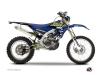 Yamaha 250 WRF Dirt Bike Flow Graphic Kit Yellow