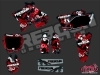Yamaha 125 YZ Dirt Bike Freegun Graphic Kit Red
