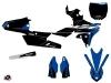 Yamaha 250 YZF Dirt Bike Halftone Graphic Kit Black Blue