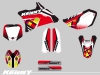 Yamaha 85 YZ Dirt Bike Kenny Graphic Kit Red