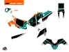 Kit Déco Moto Kontrol KTM 450 RFR Injection Orange Blanc