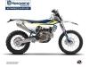 Kit Déco Moto Cross Legend Husqvarna 125 TE Bleu
