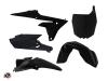 PACK Kit Déco Moto Cross Halftone Yamaha 450 YZF Noir Bleu + Kit Plastiques 450 YZF Noir à partir de 2014