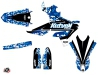 Yamaha 250 WRF Dirt Bike Predator Graphic Kit Blue LIGHT