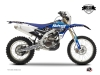 Yamaha 450 WRF Dirt Bike Predator Graphic Kit Black Blue LIGHT
