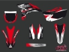 Yamaha 250 YZF Dirt Bike Pulsar Graphic Kit Red